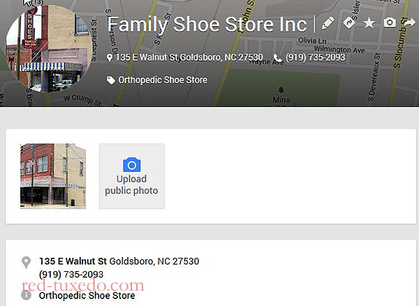 Family Shoe Store's Places page. Downtown Goldsboro, NC.