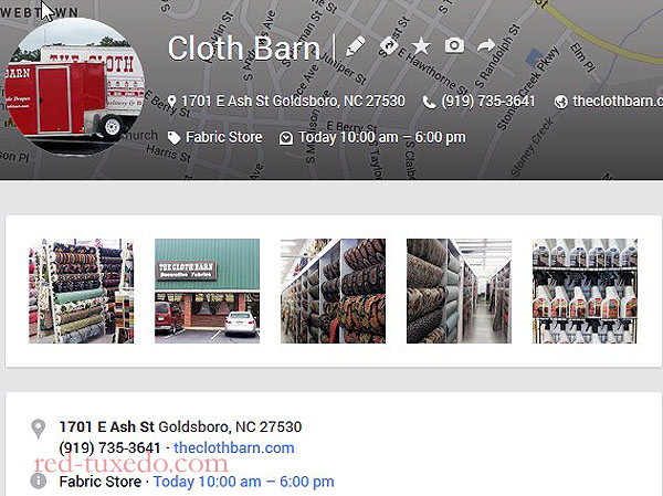 Cloth Barn's new store, Ash Street, Goldsboro. Best fabric selection east of High Point.