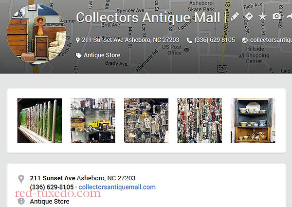 Collector's Antique Mall, Asheboro, NC. Google Places page.