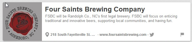 Four Saints Brewing Company, Asheboro, NC